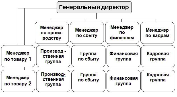 Пример структуры управления бизнесом\предприятием